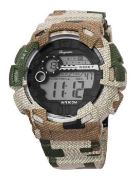 Relógio Burgmeister Homem Halifax Verde e Cinza