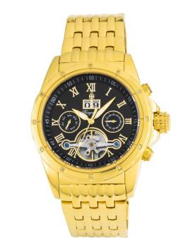 Relógio Burgmeister Homem Royal Diamond Dourado e Preto