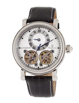 Relógio Burgmeister Homem Alicante Preto e Prateado