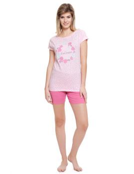 Pijama curto  Lee Cooper Rosa