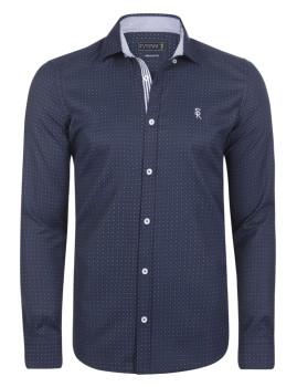 Camisa Sir Raymond Taylor Caddy Azul Navy-Vermelho-Índigo