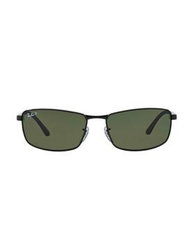 Óculos de sol Ray-Ban preto e verde clássico polarizado