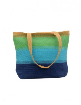 Bolsa Tricolor Azul-Turquesa-Verde 42x35
