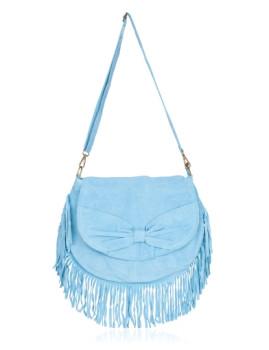 Pochete Franjas Laura Moretti Céu Azul Laura Moretti Bags