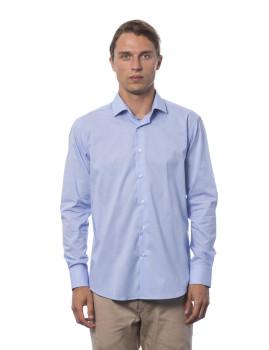 Camisa Slim Fit Trussardi U12 Azul