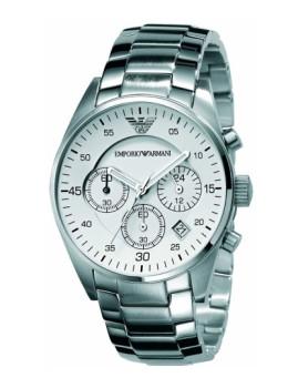 Relógio Senhora Emporio Armani Prateado e Cinza