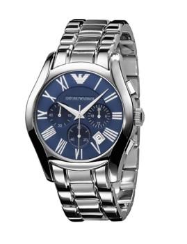 Relógio Homem Emporio Armani Prateado e Azul