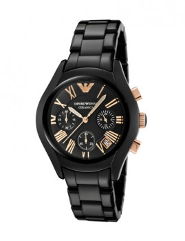 Relógio Emporio Armani Preto& Pormenor Dourado