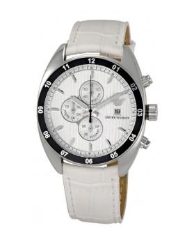 Relógio Homem Emporio Armani Branco e Prateado