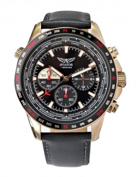 Relógio Homem Aviator Preto