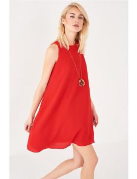 Vestido SHOT curto corte direito cavado vermelho Ref 103