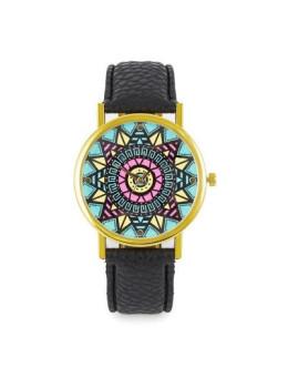 Relógio Sidartha Etnic Preto Senhora