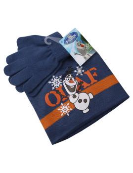 Conjunto Gorro e Luvas Disney Olaf Criança Azul