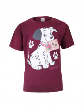 T-shirt Disney Puppy Post Criança Bordeaux