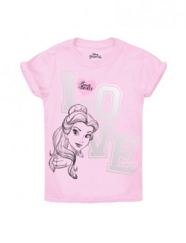 T-shirt Disney Belle Love Criança Rosa Claro