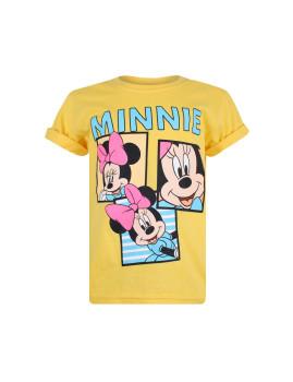 T-shirt Disney Minnie Snaps Criança Amarelo