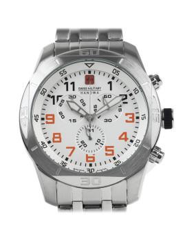 Relógio Swiss Military Hanowa Homem Prateado e Branco