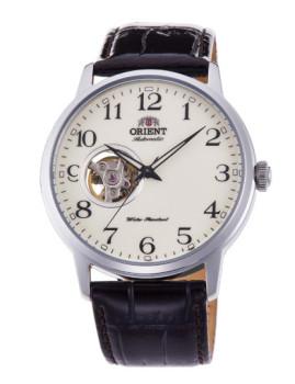 Relógio Orient Classic Homem Prateado e Castanho