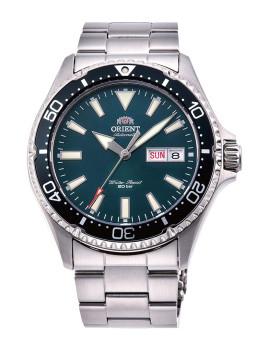 Relógio Orient Sports Homem Prateado e Verde