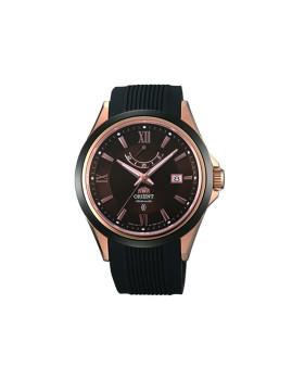 Relógio Orient Classic Homem Preto e Castanho