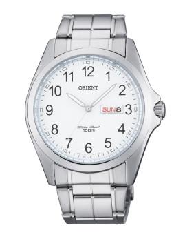 Relógio Orient Contemporary Homem Prateado e Branco