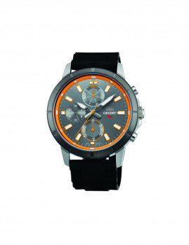 Relógio Orient Sports Homem Preto e Cinza Escuro