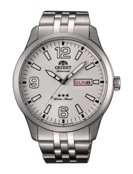 Relógio Orient Homem Metalizado e Creme