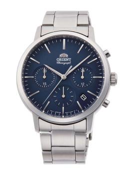 Relógio Orient Homem Metalizado e Azul