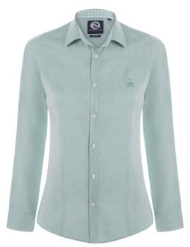 Camisa Oxford de Senhora Verde Menta Giorgio di Mare