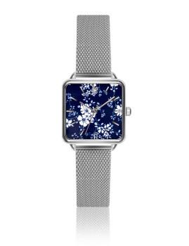 Relógio Emily Westwood Prateado Esmalte com detalhes artisticos