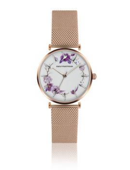 Relógio Emily Westwood Dourado rosa Branco com apontamentos artisticos