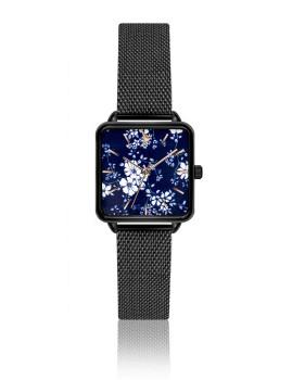 Relógio Emily Westwood Preto Esmalte com detalhes artisticos