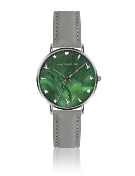 Relógio Emily Westwood Prateado Verde MOP