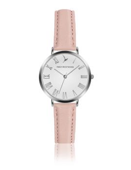 Relógio Emily Westwood Prateado e Rosa Marshmallow Branco