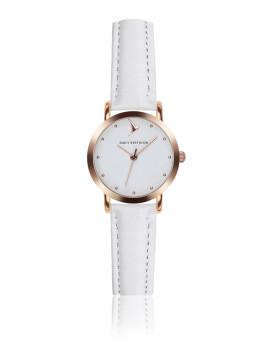 Relógio Emily Westwood Dourado Rosa  e Branco Marshmallow Branco