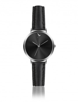 Relógio Emily Westwood Prateado e PretoRaio de sol preto