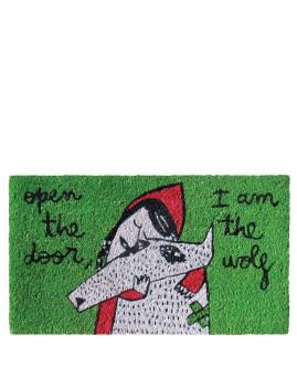 Tapete verde open the door, I am the wolf