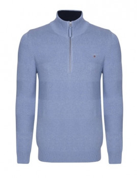 Sweater Zip Gant Azul