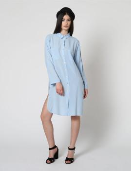 Vestido Dioxide Senhora Ylva Azul Celeste