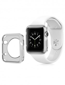 Capa Silicone Apple Watch 42 mm Cinzento