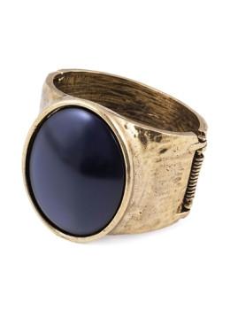 Bracelete Rígida Dourado Metal Preto&Dourado