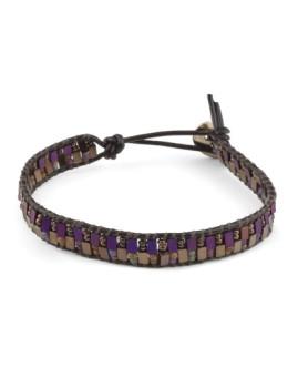 Bracelete Púrpura Macramé