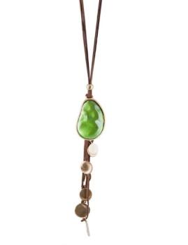 Fio Castanho c/ Pedra Verde