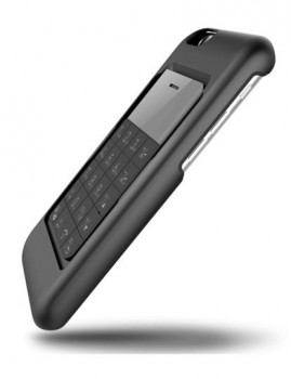 Micro Smartphone Talkase c capa p iPhone 6 em preto