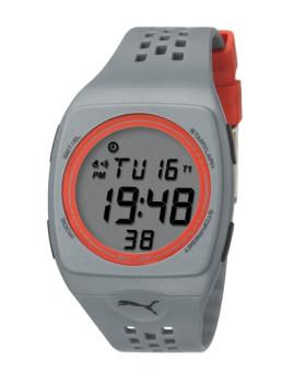 Relógio Puma Cinza e Laranja