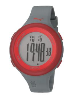 Relógio Puma Cinza e Vermelho