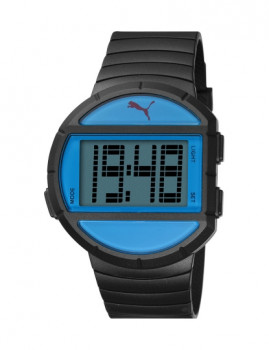 Relógio Puma Redondo Preto e Azul