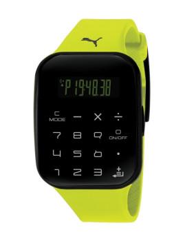 Relógio Puma Calculator Preto e Amarelo