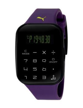 Relógio Puma Calculator Preto e Roxo