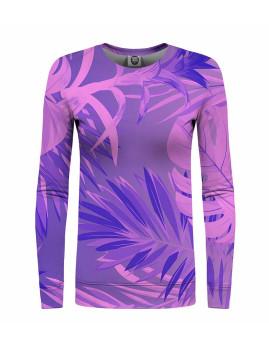 Sweatshirt Senhora Mr. GUGU & Miss GO Tropical Violet Multicolorido